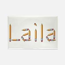 Laila Pencils Rectangle Magnet