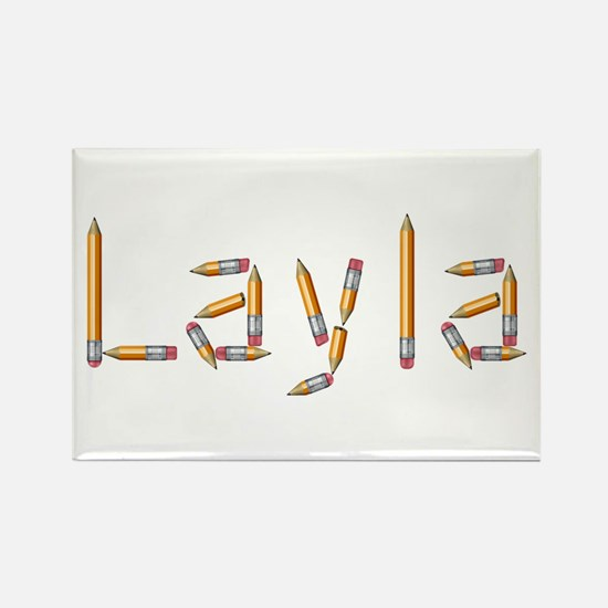 Layla Pencils Rectangle Magnet