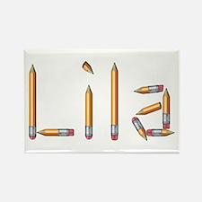 Lila Pencils Rectangle Magnet