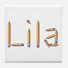 Lila Pencils Tile Coaster