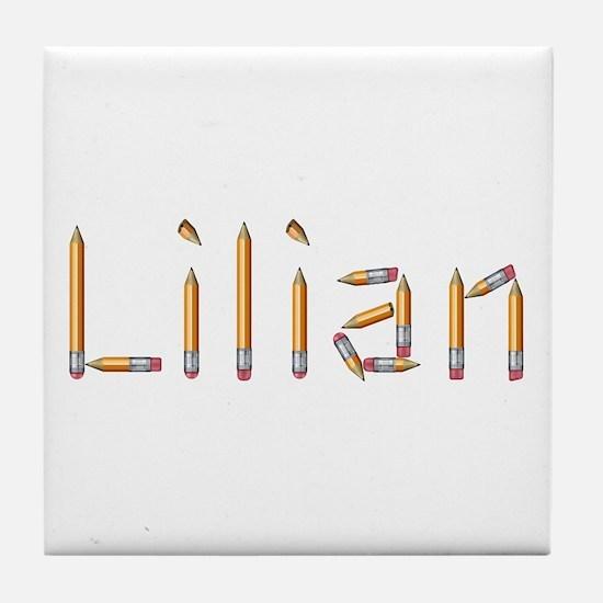 Lilian Pencils Tile Coaster