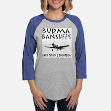 Burma Banshee grey ... Womens Baseball Tee