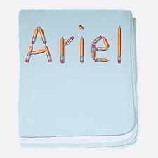 Ariel Pencils baby blanket