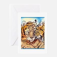 Tigers, wildlife art! Greeting Card