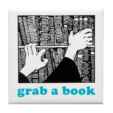 Grab a Book Tile Coaster