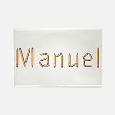 Manuel Pencils Rectangle Magnet