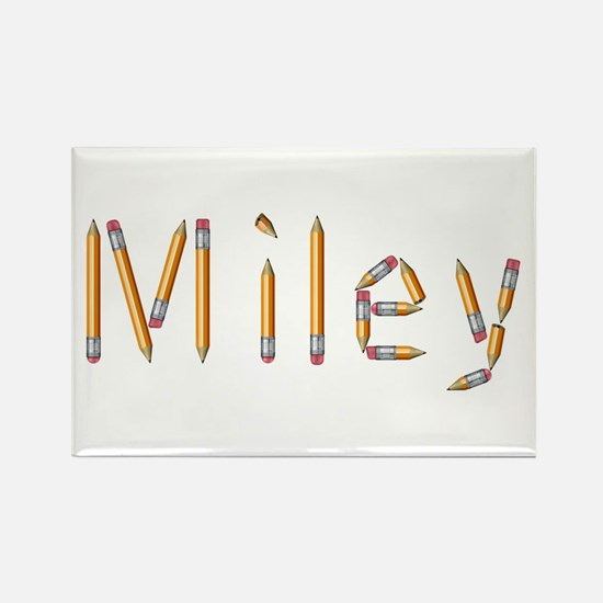 Miley Pencils Rectangle Magnet