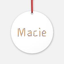Macie Pencils Round Ornament