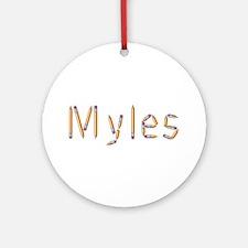 Myles Pencils Round Ornament