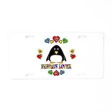 Penguin Lover Aluminum License Plate
