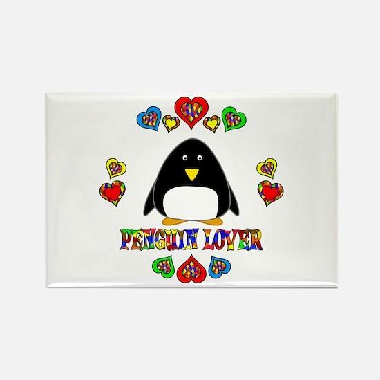 Penguin Lover Rectangle Magnet