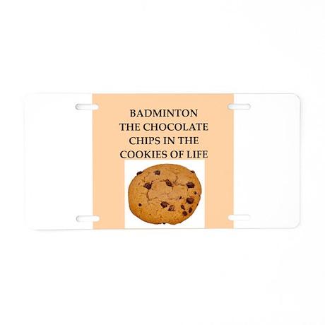 badminton Aluminum License Plate