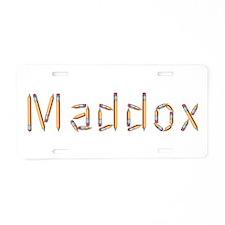 Maddox Pencils Aluminum License Plate