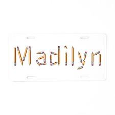 Madilyn Pencils Aluminum License Plate