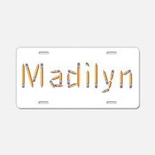 Madilyn Pencils Aluminum License Plate