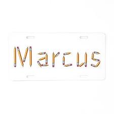 Marcus Pencils Aluminum License Plate