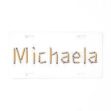 Michaela Pencils Aluminum License Plate