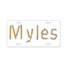 Myles Pencils Aluminum License Plate