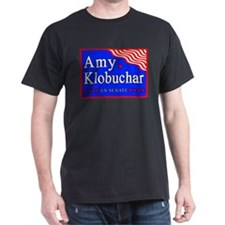 MN Amy Klobuchar US Senate Black T-Shirt