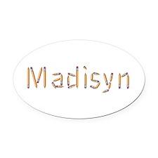 Madisyn Pencils Oval Car Magnet