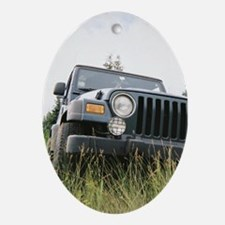 Just me 'n my Jeep Oval Ornament