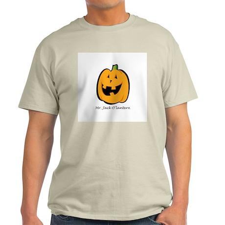Mr. Jack O'lantern Ash Grey T-Shirt
