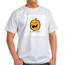 Mr. Jack O'lantern Ash Grey T-Shirt
