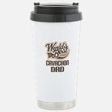 Cavachon Dog Dad Stainless Steel Travel Mug