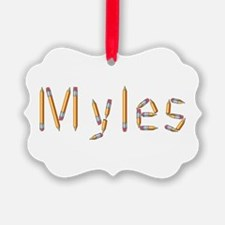 Myles Pencils Ornament
