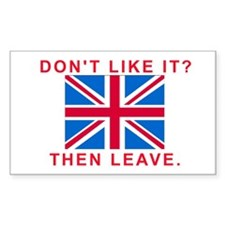 Don't like the Union Jack? Leave Britain.