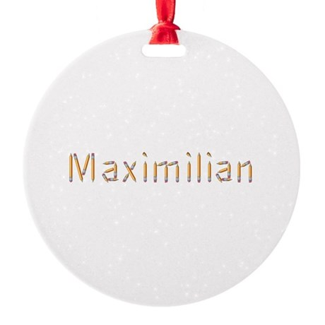 Maximilian Pencils Round Ornament