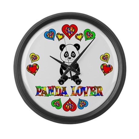 Panda Lover Large Wall Clock