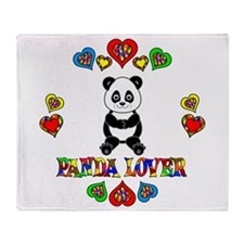 Panda Lover Throw Blanket
