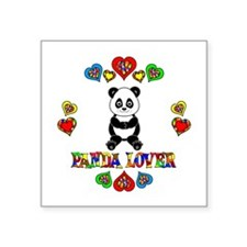 "Panda Lover Square Sticker 3"" x 3"""