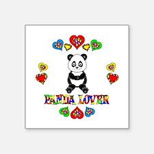 "Panda Lover Square Sticker 3"" x 3"""