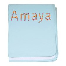 Amaya Pencils baby blanket