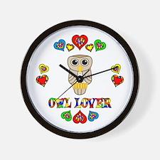 Owl Lover Wall Clock