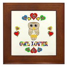 Owl Lover Framed Tile