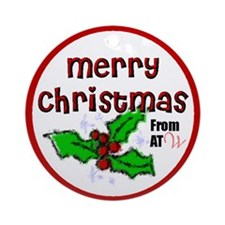 Merry Christmas from ATW Round Ornament