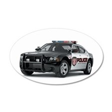 Funny Police car Wall Decal