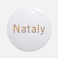 Nataly Pencils Round Ornament