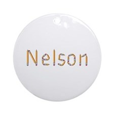 Nelson Pencils Round Ornament