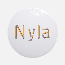 Nyla Pencils Round Ornament