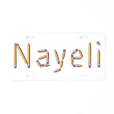 Nayeli Pencils Aluminum License Plate