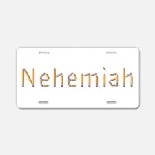 Nehemiah Pencils Aluminum License Plate