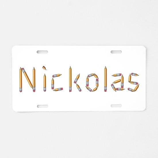 Nickolas Pencils Aluminum License Plate