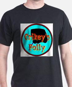 Crikey's Folly Black T-Shirt
