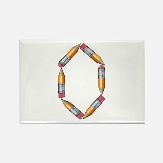 O Pencils Rectangle Magnet