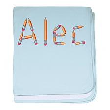Alec Pencils baby blanket
