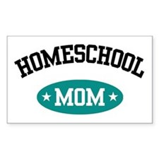 Homeschool Mom Rectangle Decal